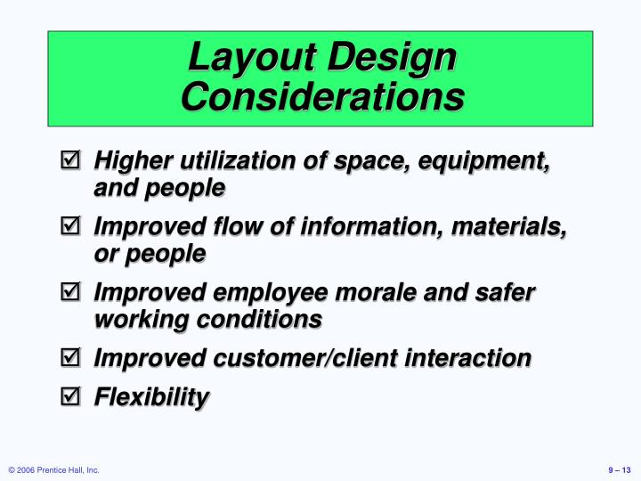 Layout Design Considerations