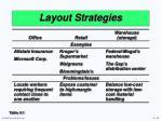 layout strategies