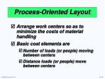 process oriented layout2