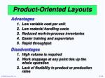 product oriented layouts1