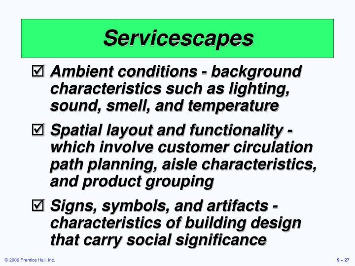 Servicescapes