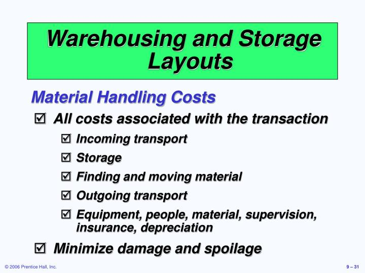 Warehousing and Storage Layouts
