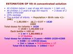 estimation of vit a concentrated solution