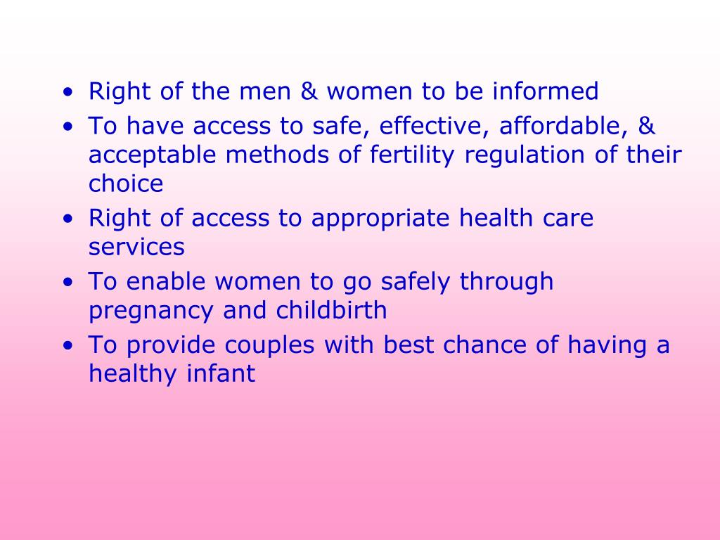Right of the men & women to be informed