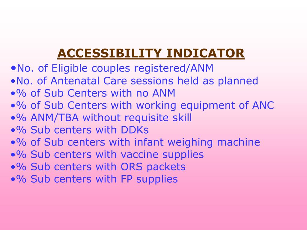 ACCESSIBILITY INDICATOR