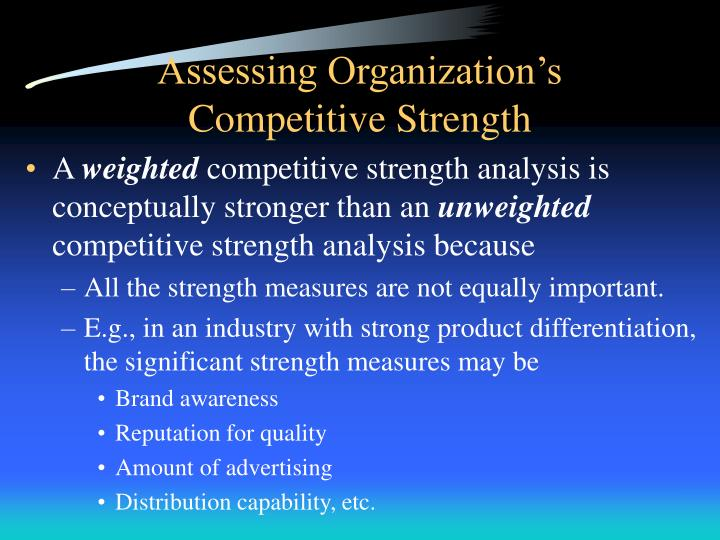 weighted competitive strength analysis Swot analysis of chipotle mexican grill strength strong brand name focused menu using high-quality raw ingredient affordable price  weighted competitive strength assessment chipotle compare to other rivals, it has higher competitive strengths and higher financial performance.