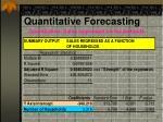 quantitative forecasting5
