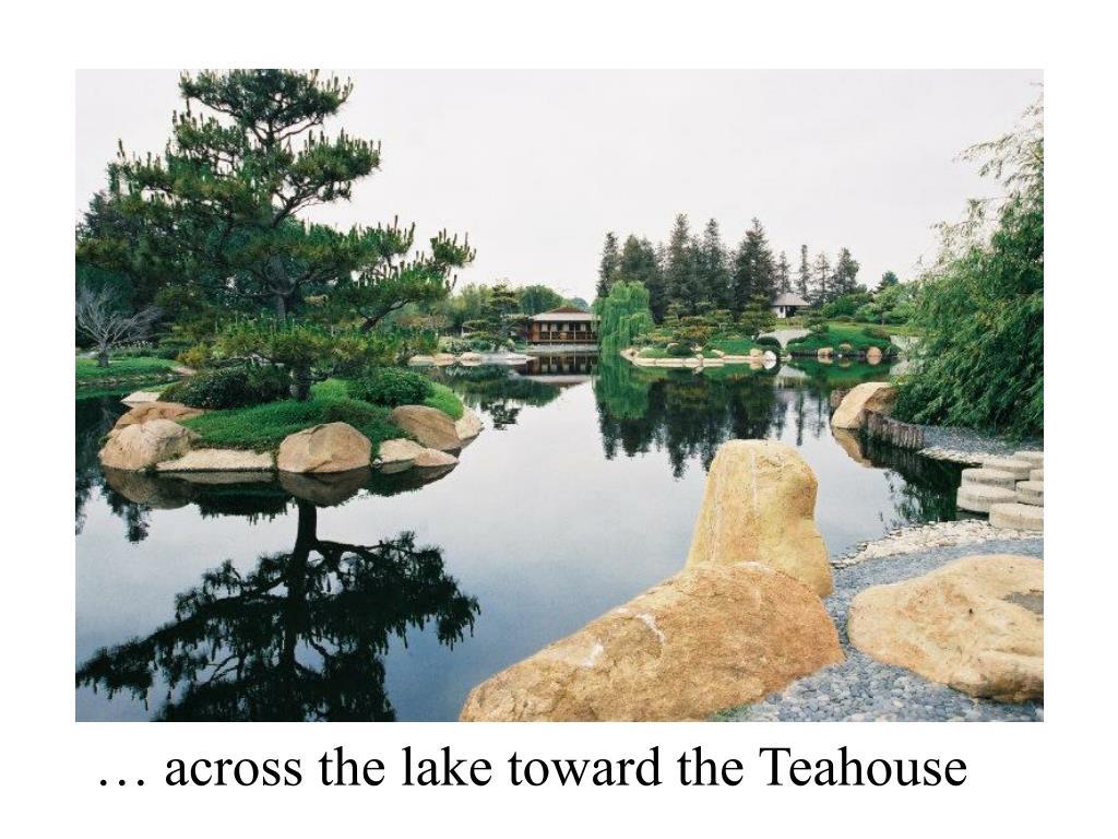 … across the lake toward the Teahouse