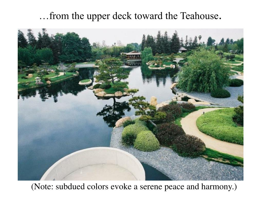 …from the upper deck toward the Teahouse