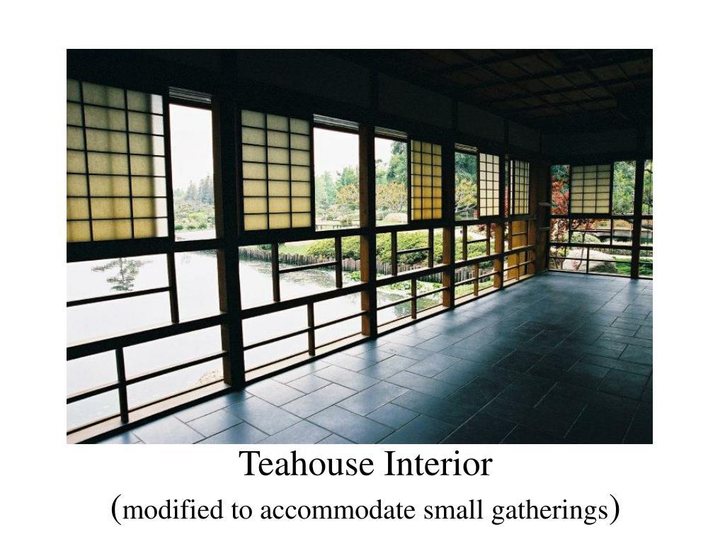 Teahouse Interior