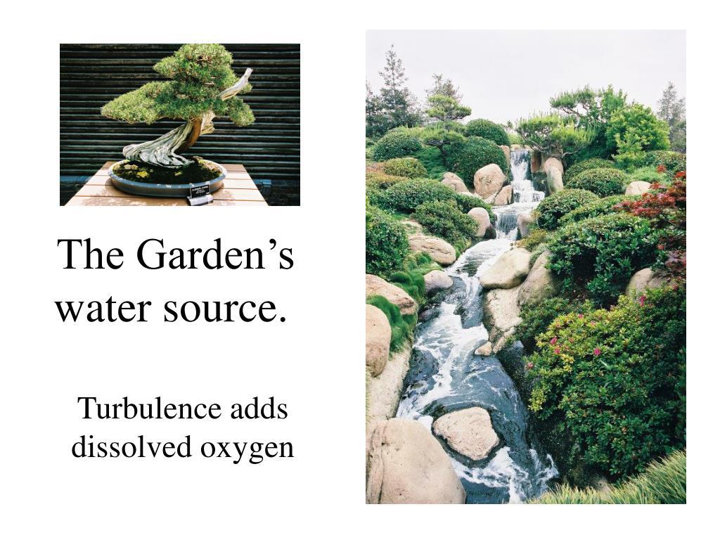 The Garden's  water source.