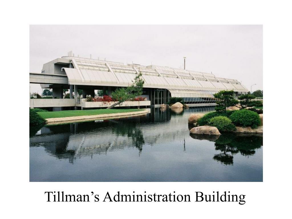 Tillman's Administration Building