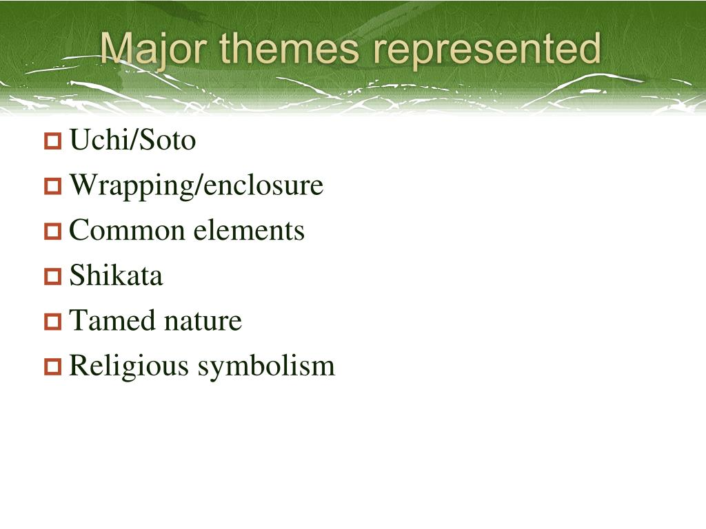 Major themes represented