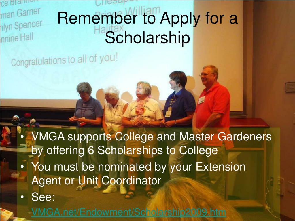 Remember to Apply for a Scholarship