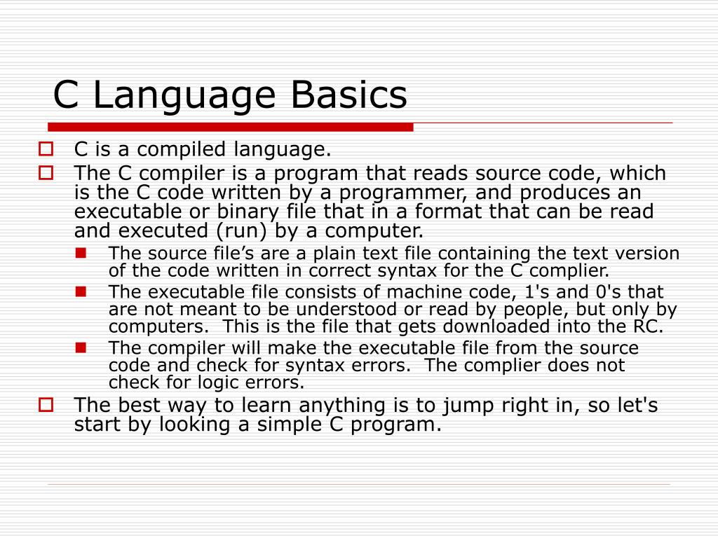 C Language Basics