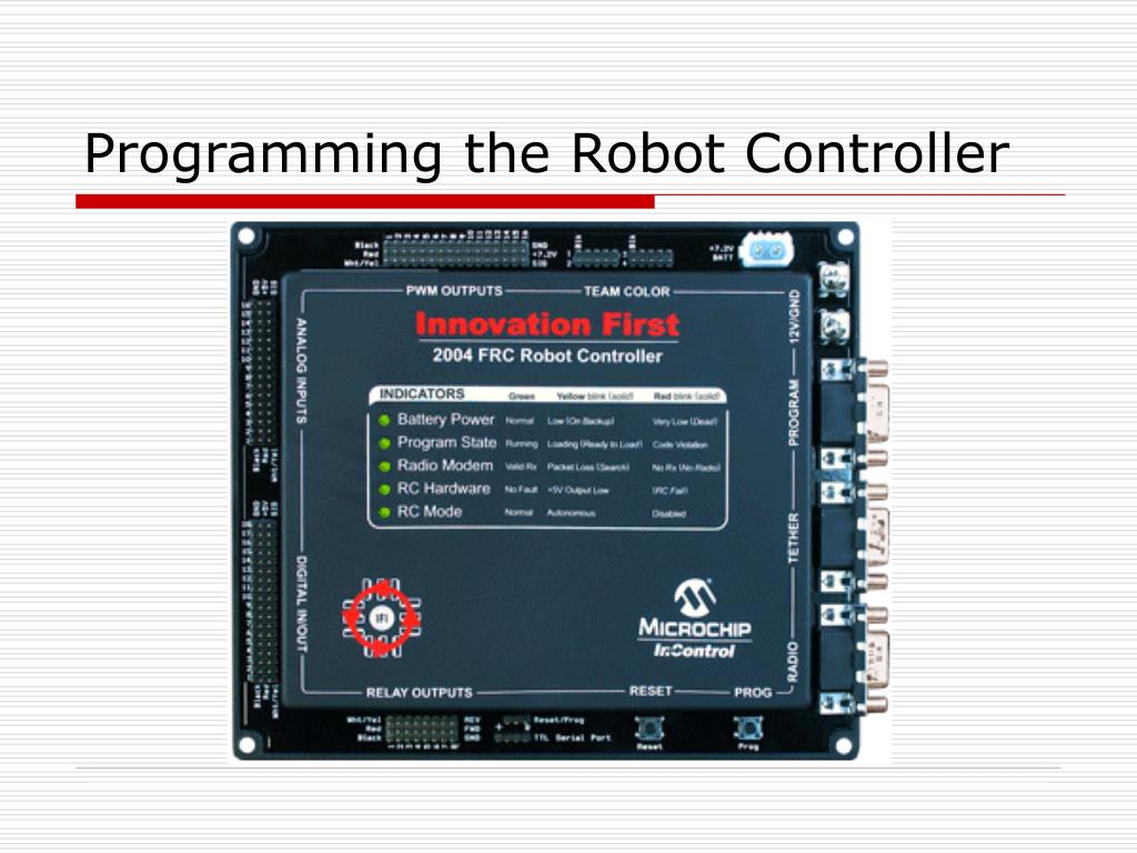 Programming the Robot Controller