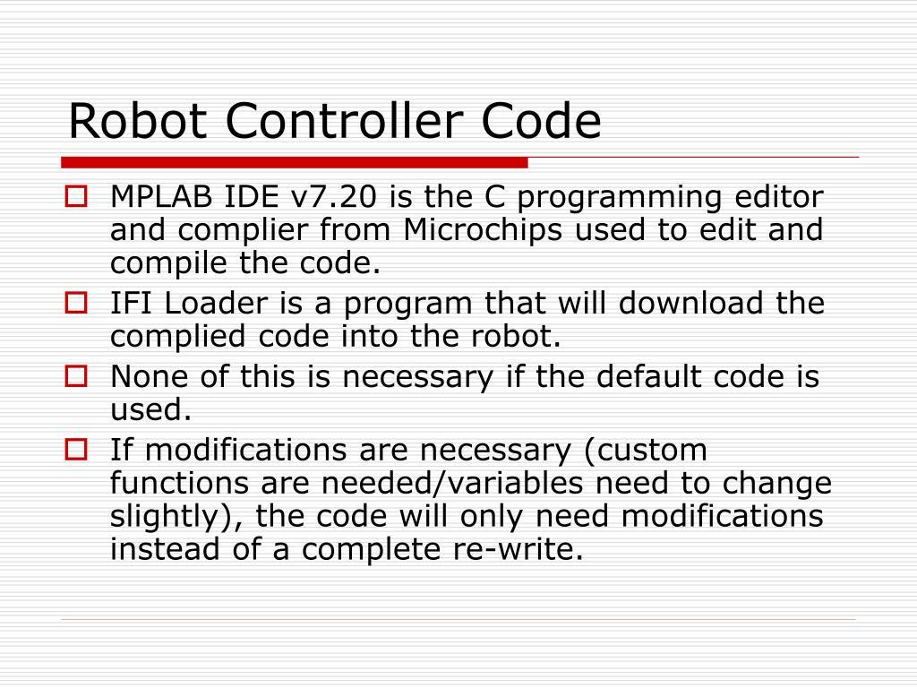 Robot Controller Code