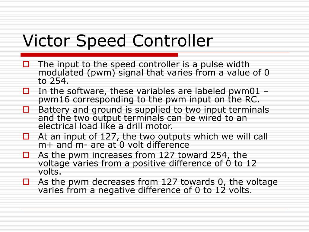 Victor Speed Controller