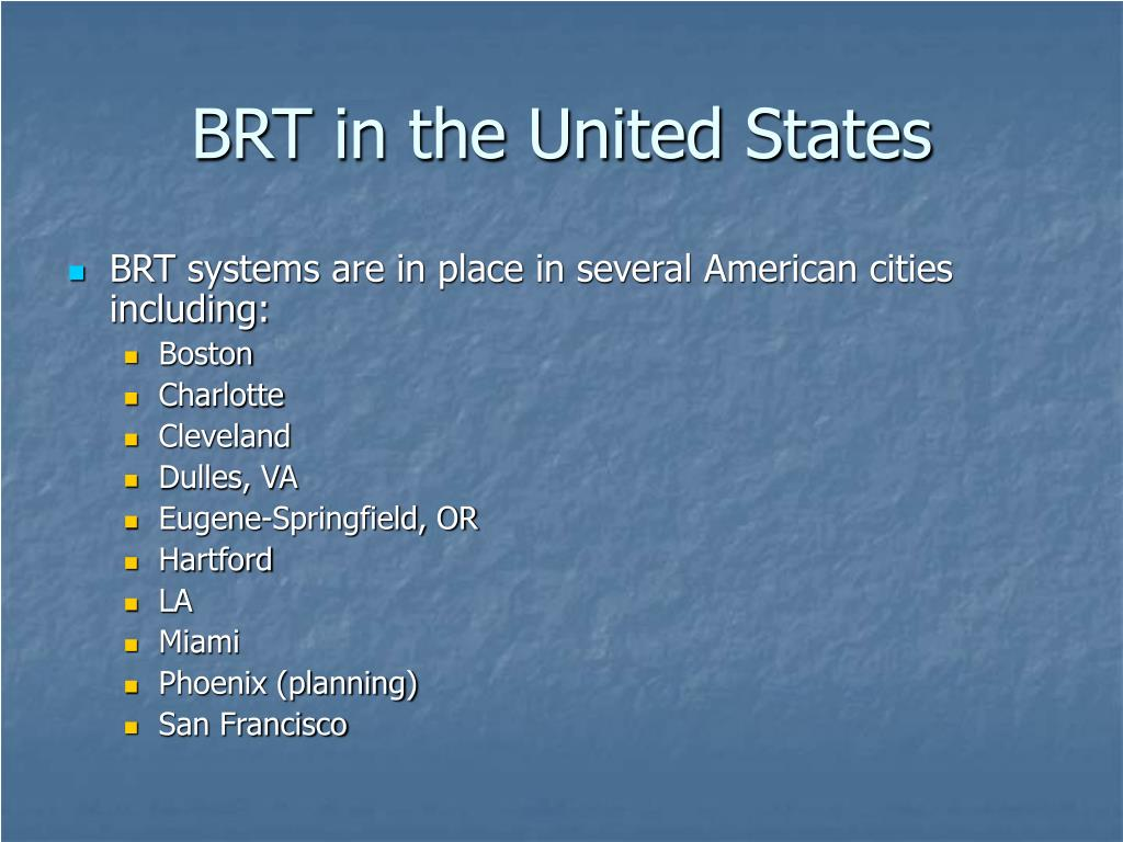 BRT in the United States