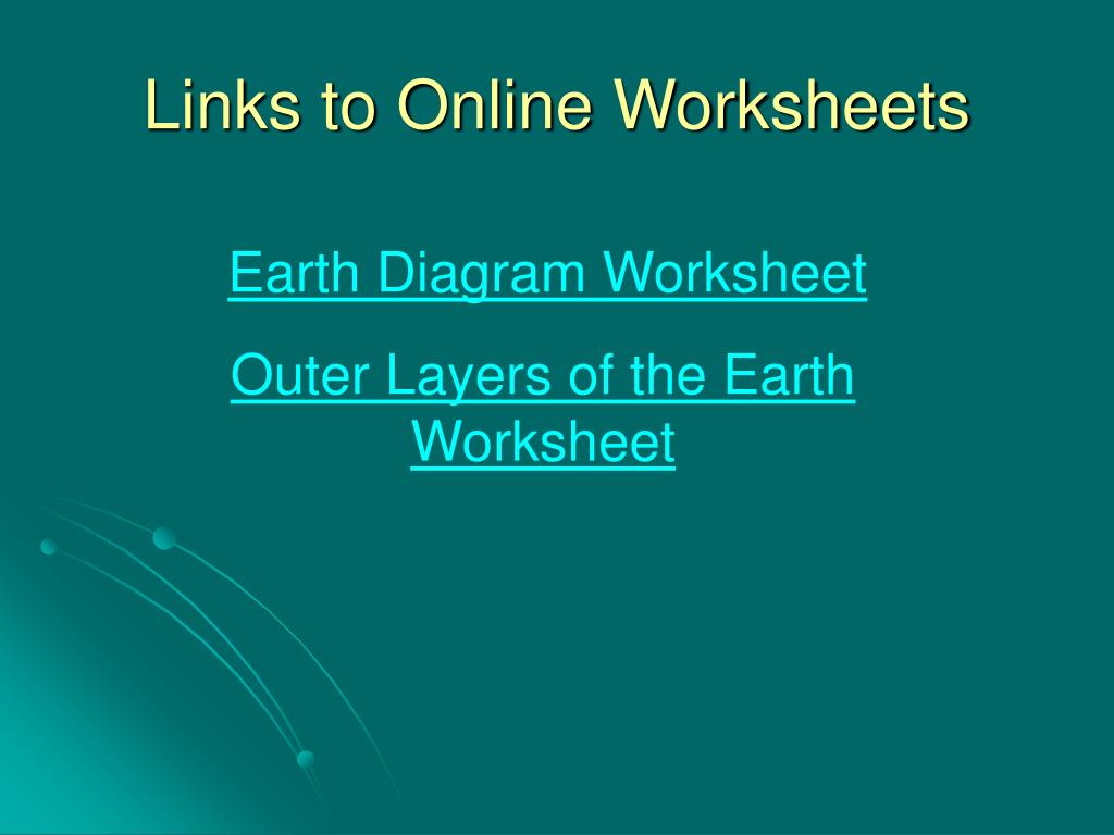 Links to Online Worksheets