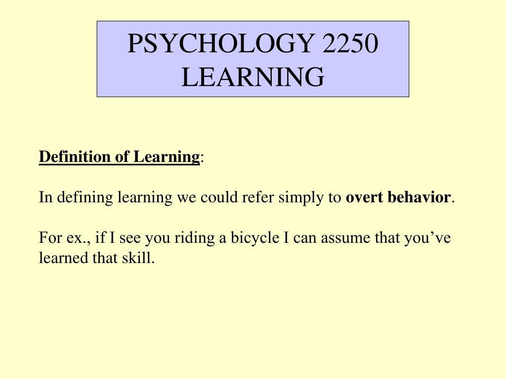 PSYCHOLOGY 2250