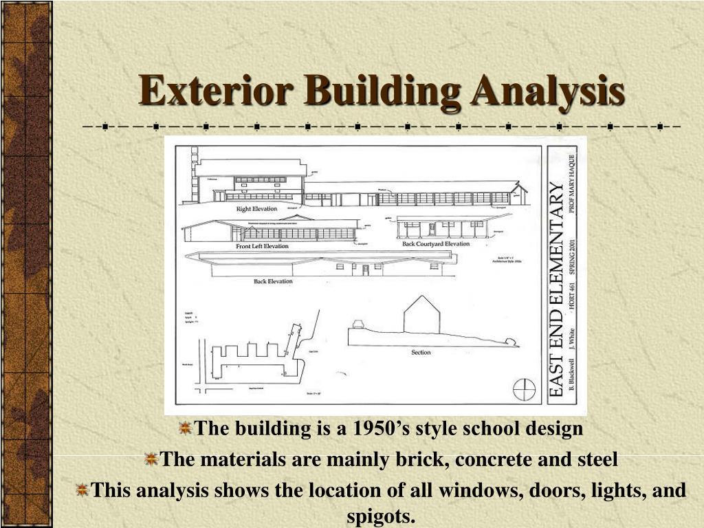 Exterior Building Analysis