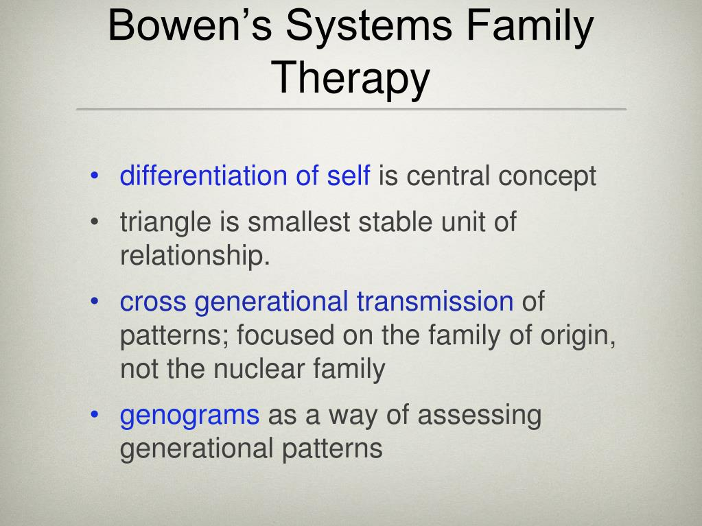 Bowen's Systems Family Therapy