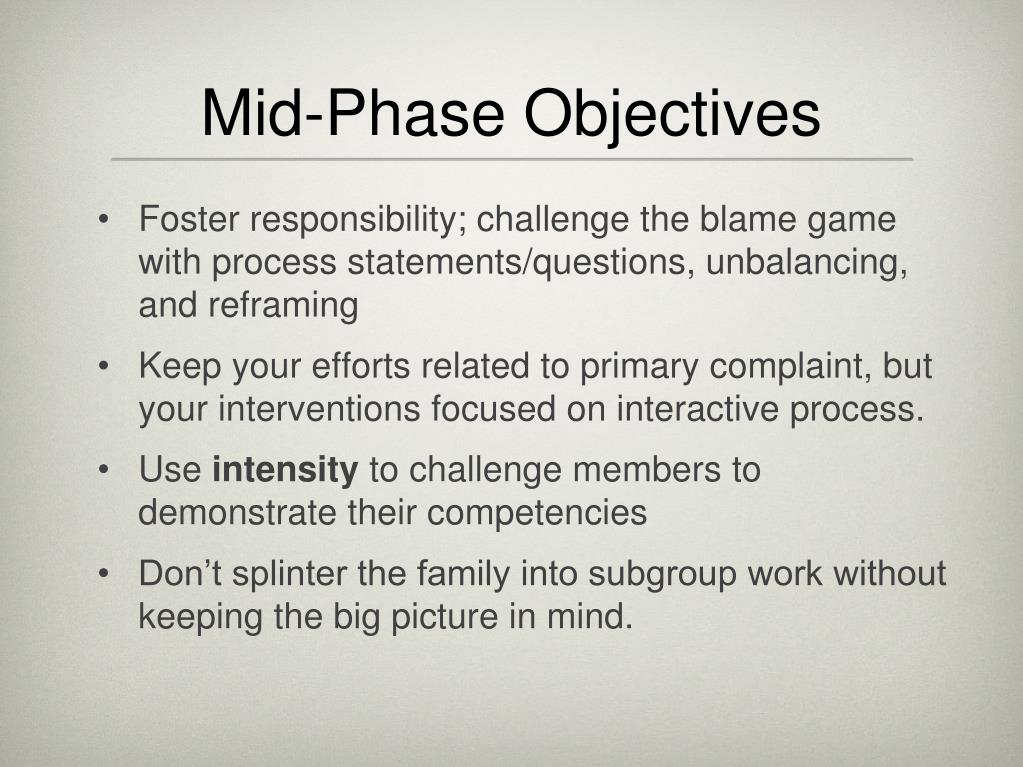 Mid-Phase Objectives
