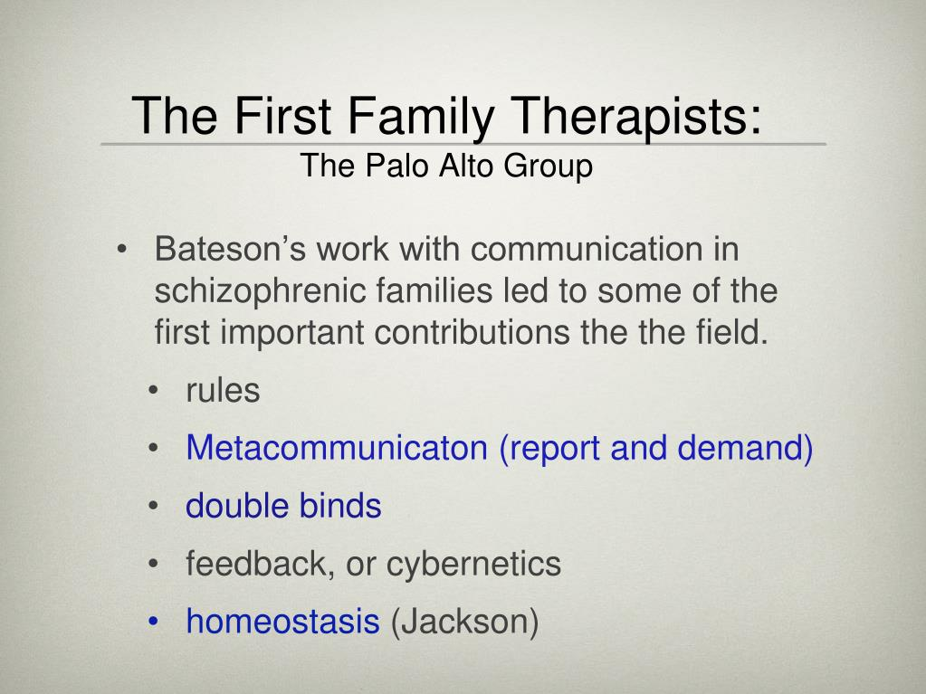 The First Family Therapists: