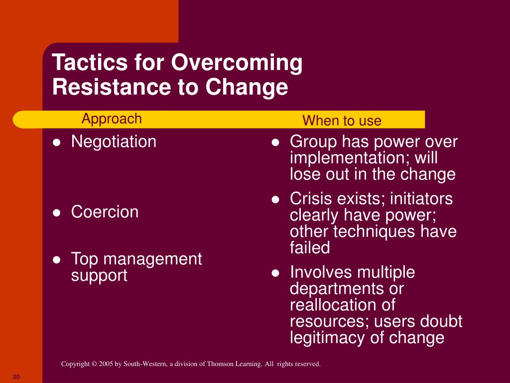 power and resistance to change Power and resistance to change workshop outline introduction background change process analysis - power - resistance conclusion analysis power resistance.