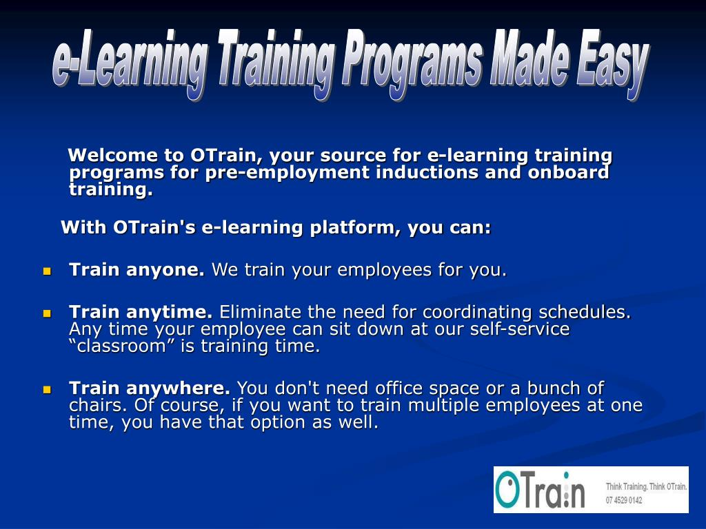 e-Learning Training Programs Made Easy