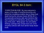 bygl 94 3 item