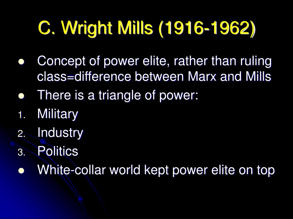 marx and mills