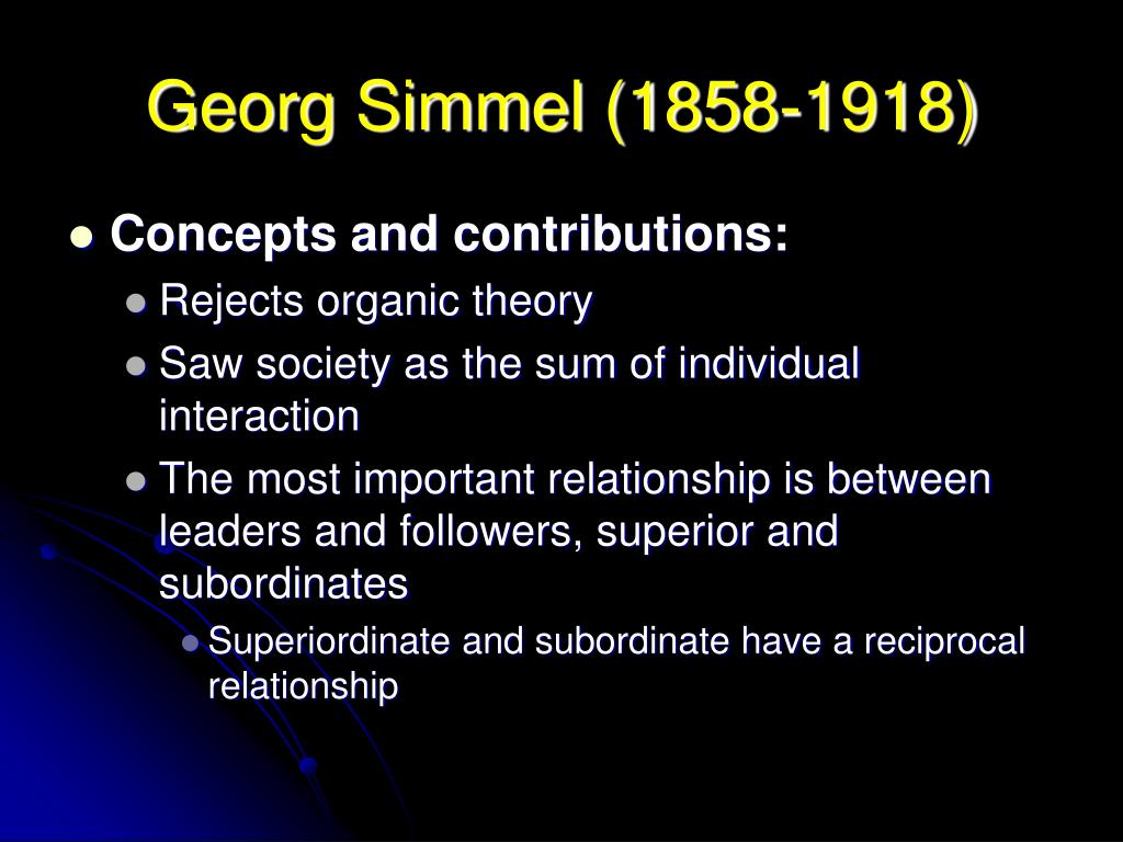 georg simmels concept of the aura Simmels grenzerkundungen verlust und  has created the concept of»experimentalsysteme«in order to be able to describe the.