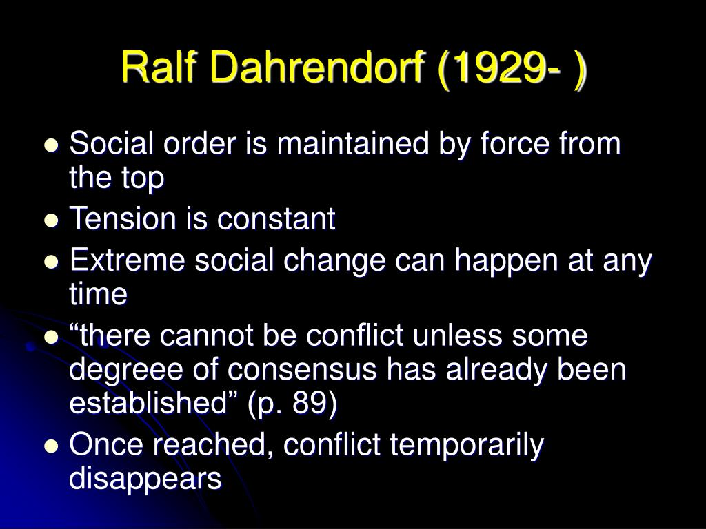 conflict theory coser dahrendorf