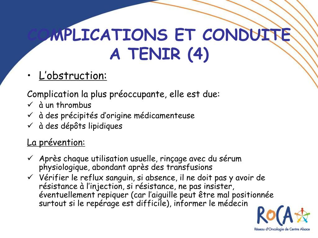 Ppt les chambres a catheter implantables cci powerpoint presentation id 219285 - Protocole chambre implantable ...