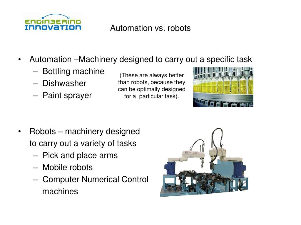 Automation vs. robots