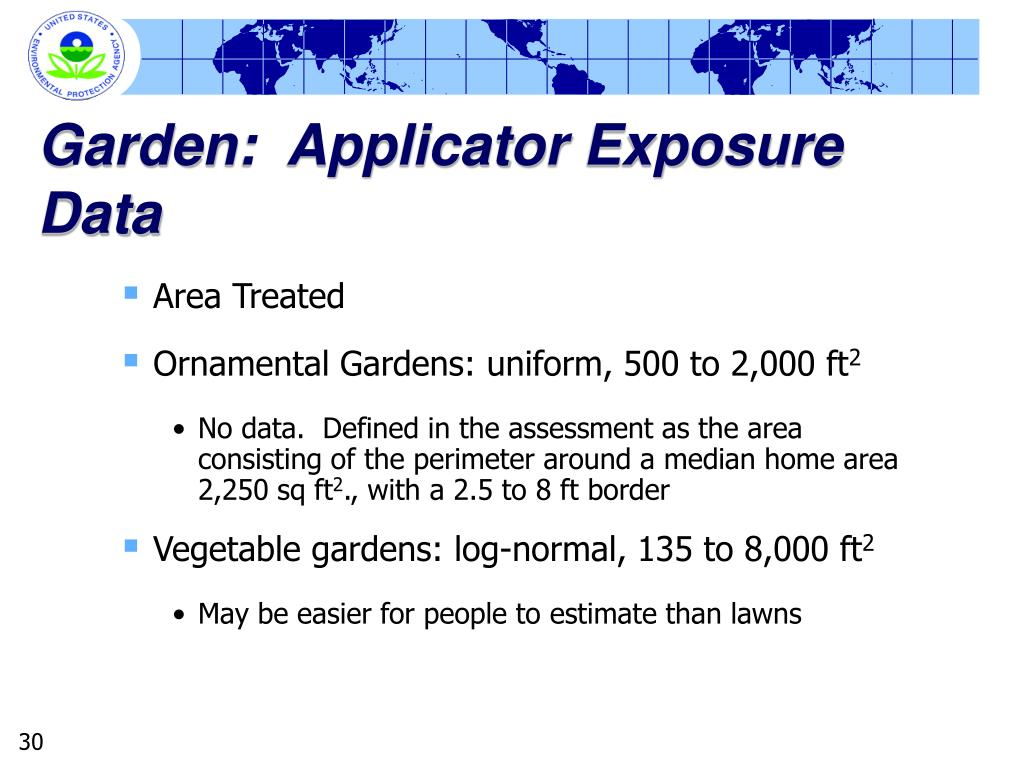 Garden:  Applicator Exposure Data