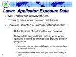 lawn applicator exposure data18