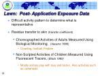 lawn post application exposure data