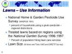 lawns use information
