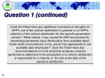 question 1 continued