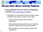 survey data macro activity patterns43