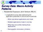 survey data macro activity patterns47