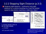3 2 2 stopping sight distance p 3 2