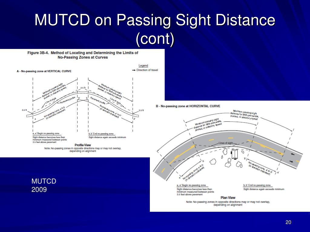 MUTCD on Passing Sight Distance (cont)