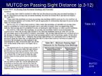 mutcd on passing sight distance p 3 12