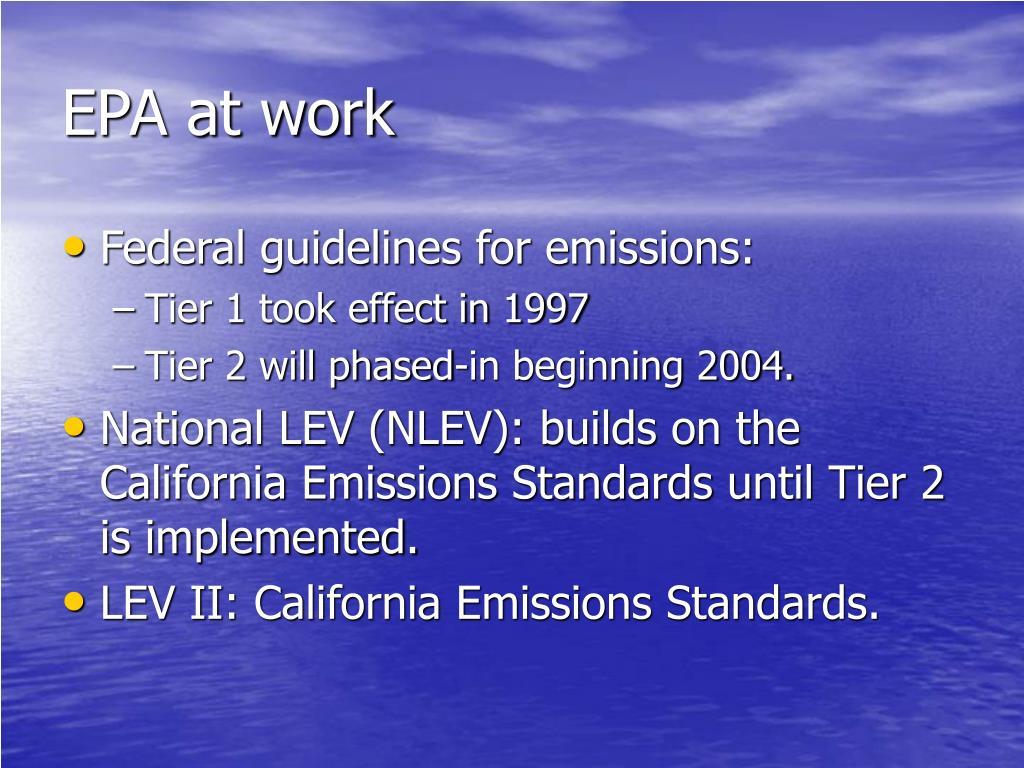EPA at work