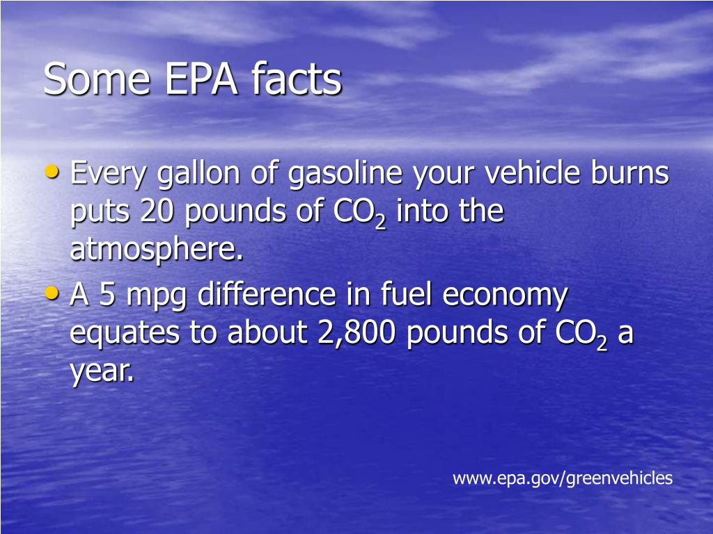 Some EPA facts