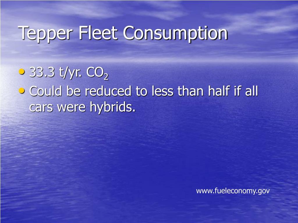 Tepper Fleet Consumption